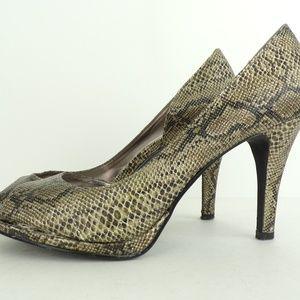 Alfani Snake Print Heels Animal Print Pumps 7.5 M
